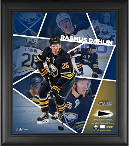 459cdc101 Rasmus Dahlin Buffalo Sabres Framed 15 quot  x 17 quot  Impact Player  Collage with a Piece