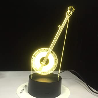 XTYZY Guitarra Modelo Lámpara De Mesa Moda Creativa Músico Regalo ...