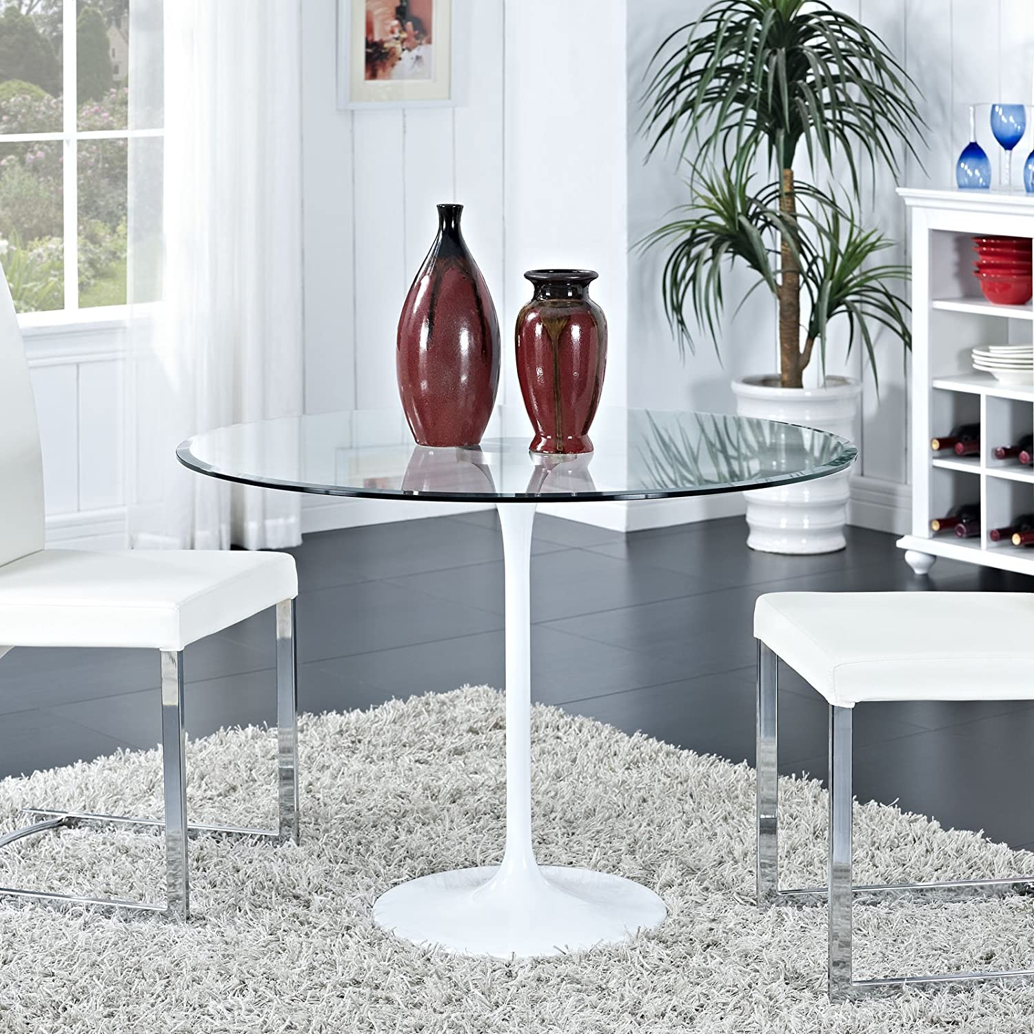 Amazon.com - Modway Circuit Dining Table in Clear - Tables