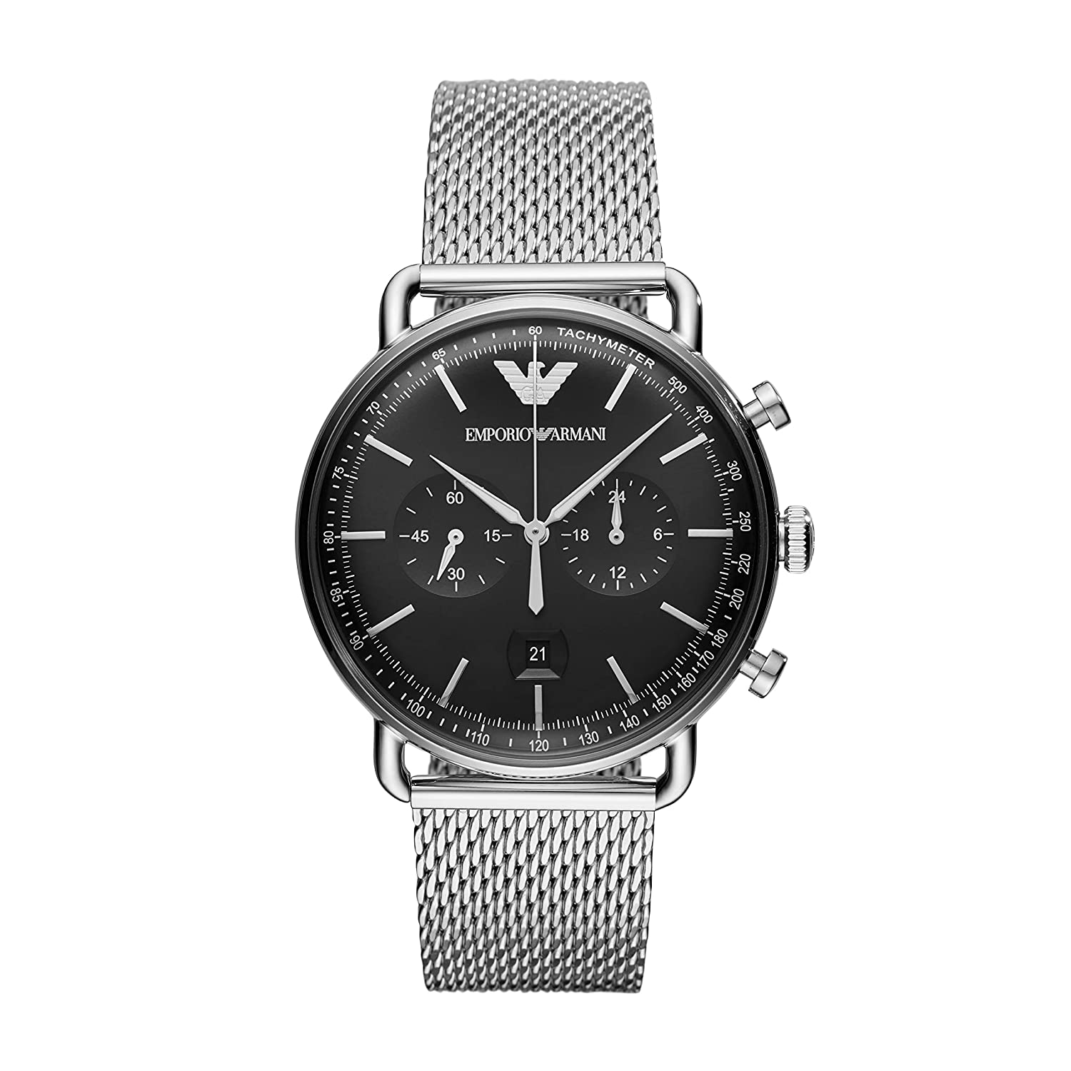 Emporio Armani Aviator Analog Black Dial Men's Watch - AR11104