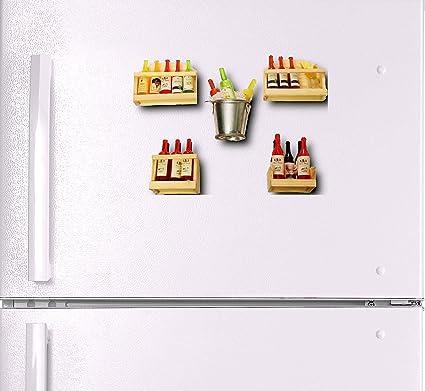 Buy Thw Champagne Wine Bottle Shaped Fridge Magnet Kitchen Magnet