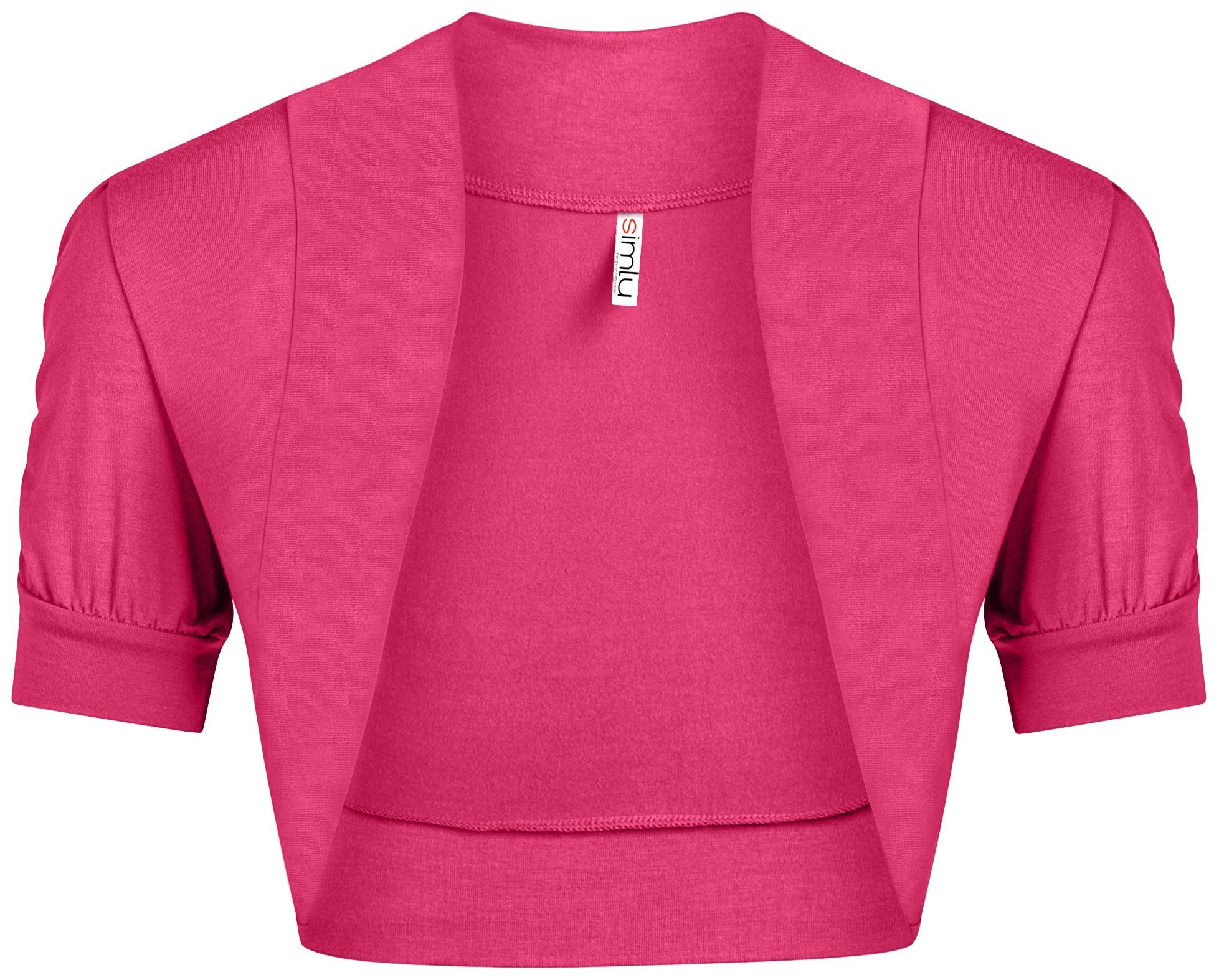 Fuchsia Bolero Shrug for Women Hot Pink Bolero Caridgan Ladies Regular and Plus Size Shrug,Fuchsia,X-Large