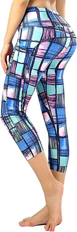 Sugar Pocket Women Running Yoga Pants Patterned Capris