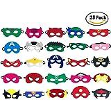 Party Masks for Kids | Marvel & DC Superheroes Party Supplies | Party Favor Masks for Kids | 25 Pieces Superhero Party Masks for Children Age 3+