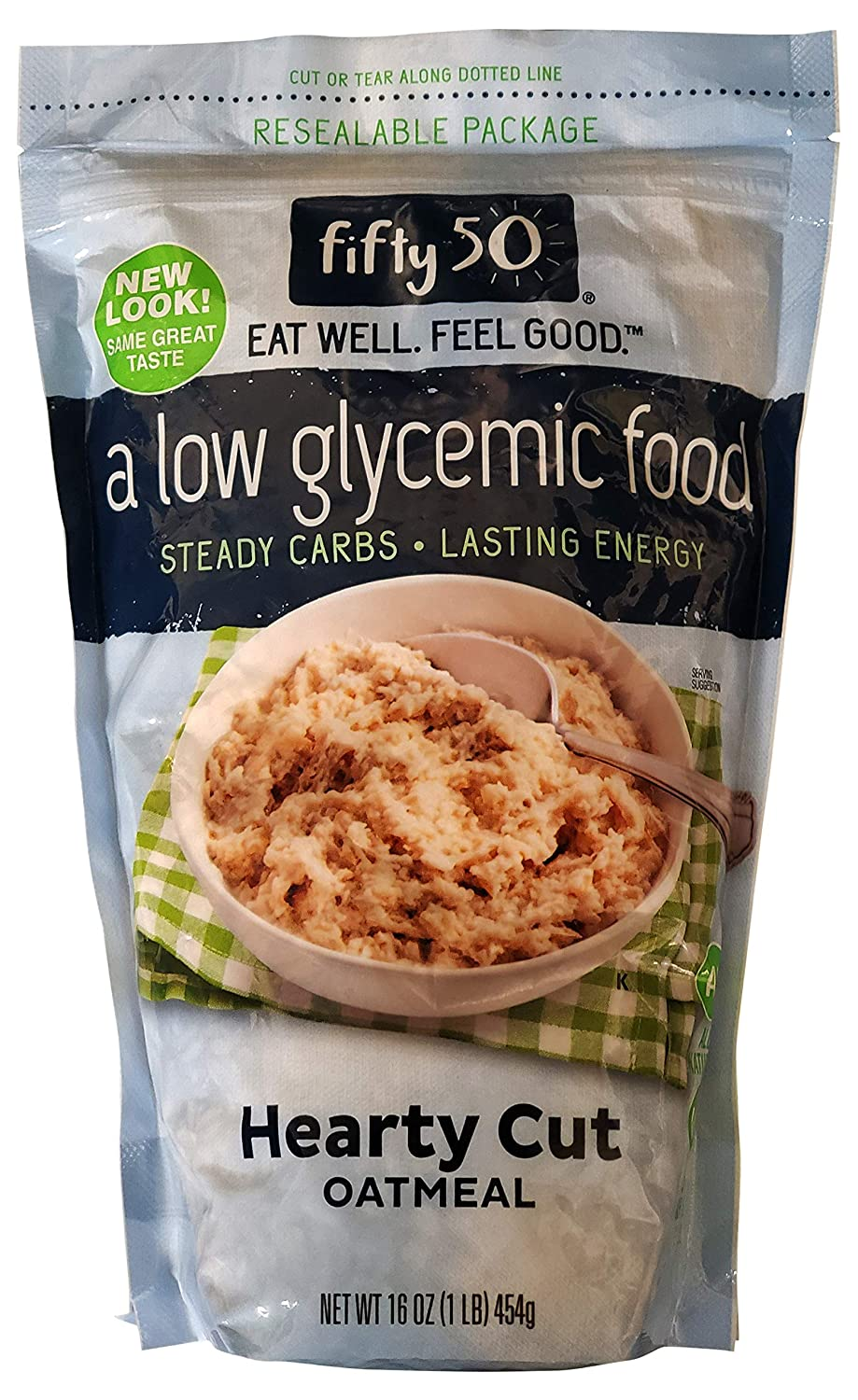Fifty 50 Low Glycemic Hearty Cut Oatmeal, 16 oz (Pack of 12)