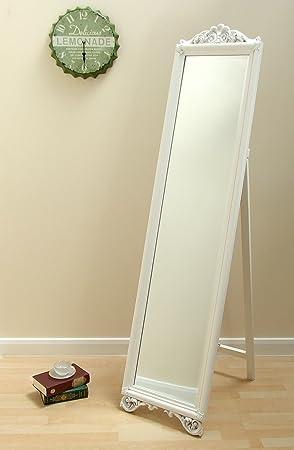 Wonderbaarlijk Milano, Shabby Chic groß freistehend weiß lang Boden Spiegel 180,3 HF-78