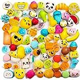 WATINC Random 20 pcs Squishies Cream Scented Slow Rising Kawaii Simulation Lovely Toy Medium Mini Soft Food squishies, Phone Straps (20P Donuts)