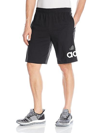 821bcbe25 adidas Men's Athletics Jersey Shorts, Black, Small