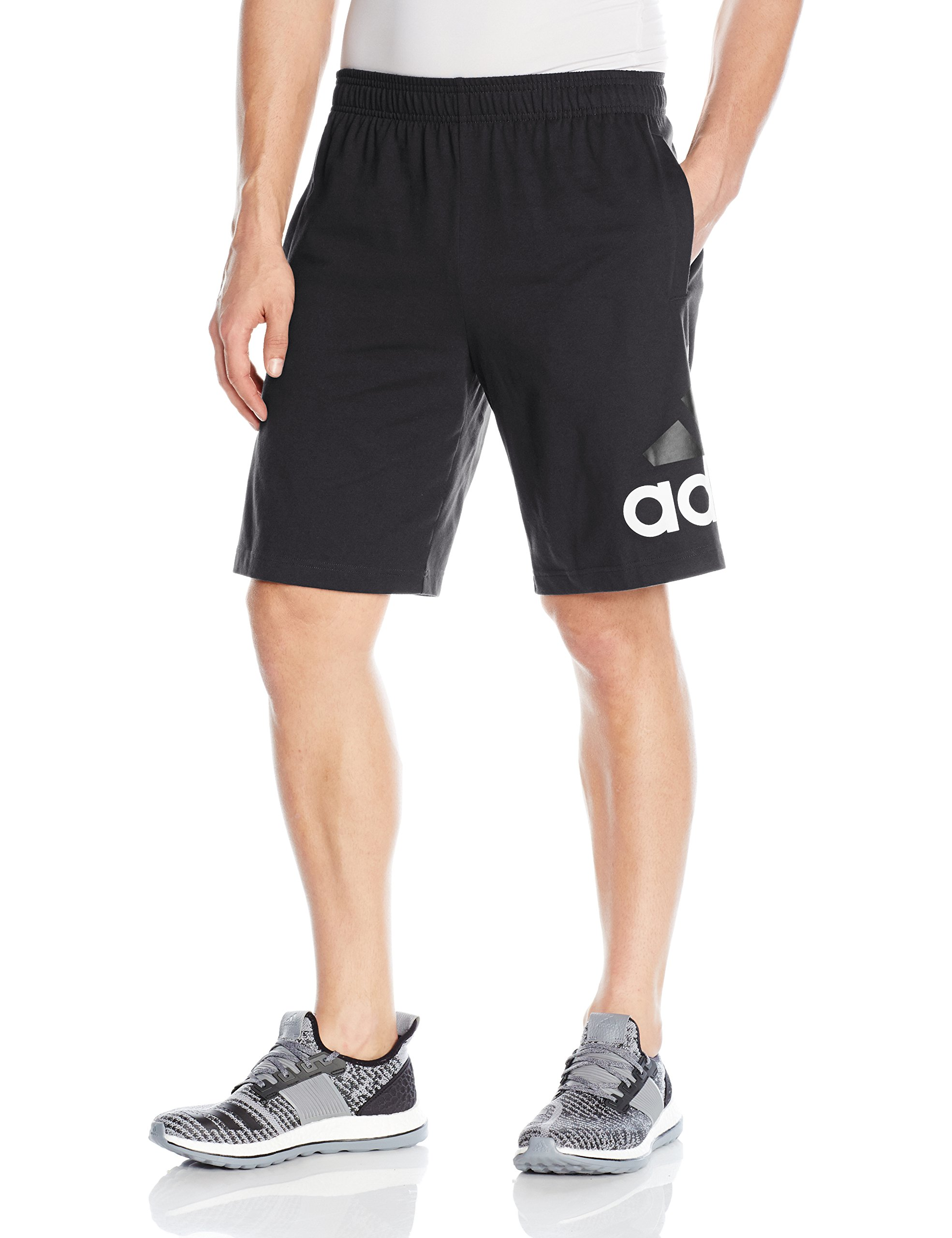 adidas Men's Athletics Jersey Shorts, Black, 3X-Large