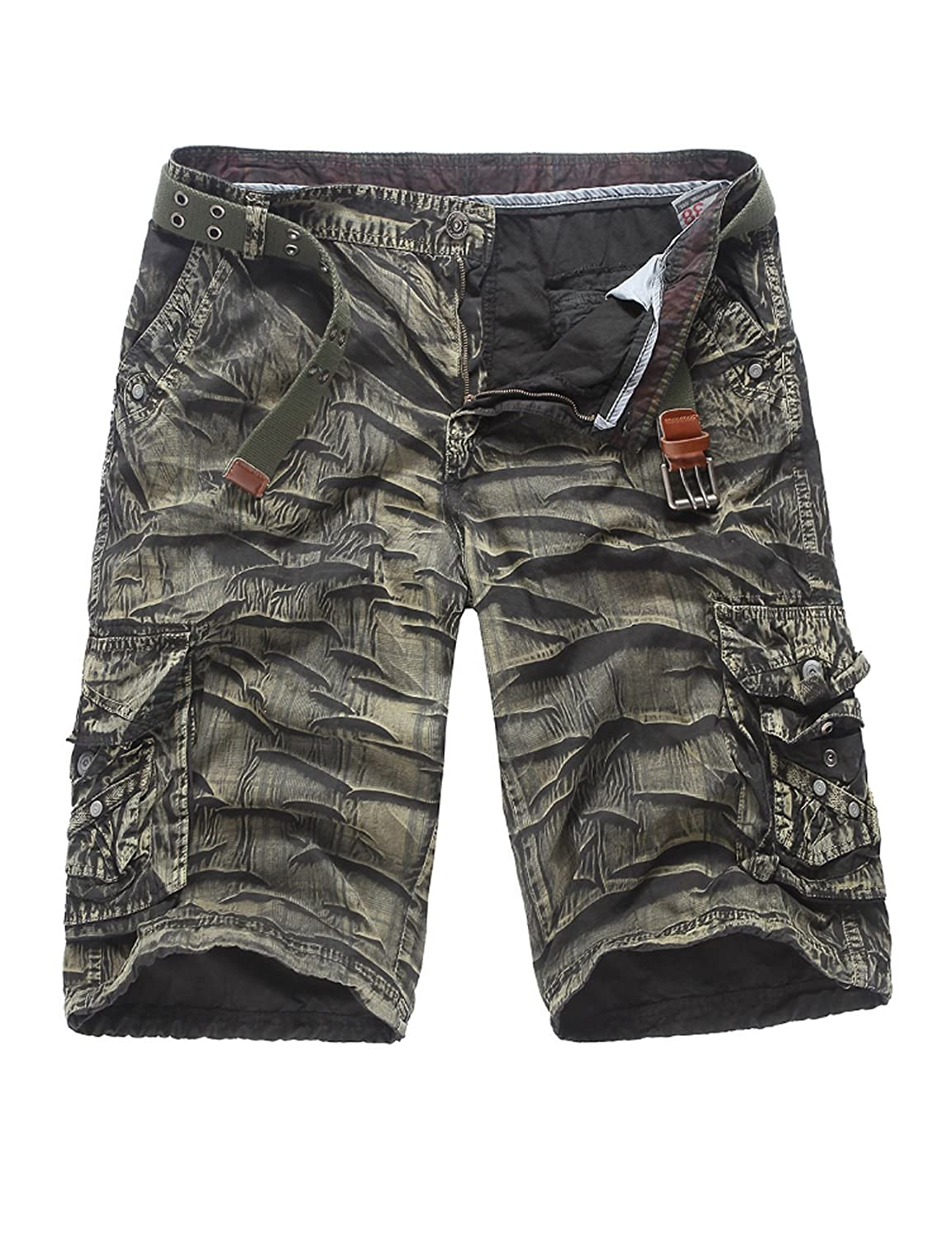 Jueshanzj Men's Cotton Shorts Camouflage Multi-Pockets ZTJSNC0368