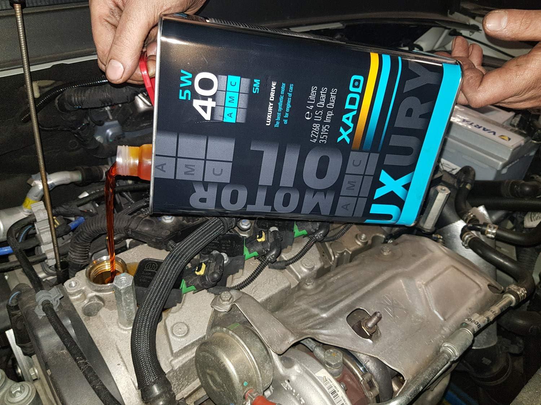 Xado 5w 40 Sm Cf Motoren Öl Synthetisch Mit Revitalizant Für Motorschutz Der Extraklasse Lx Black Edition 4 Liter Auto