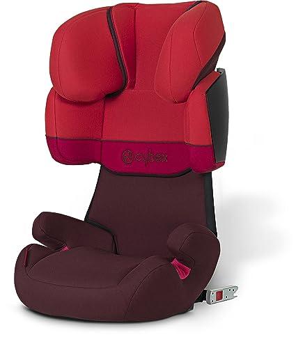 Cybex Solution X Fix - Silla de coche Grupo 2/3 (12-36 kg, 3 años-12 años) con Isofix, color rojo