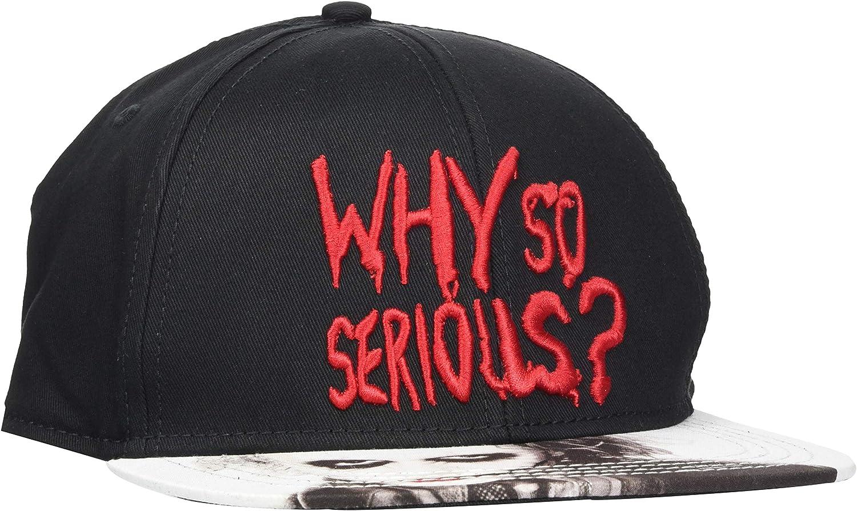 Gorra de Cap Negro//Blanco//Rojo Unbekannt The Joker Why so Serious