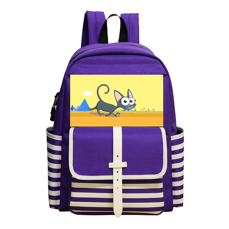 ウォーキングかわいい猫個人Great 3d印刷Schoolbag for Kids B078CQH2PB