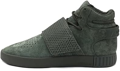 new style 1c2fb 1123b adidas Originals Tubular Invader Sangle Bb5036 Bleu Sneaker Schuhe  Chaussures pour Homme - Vert - Night