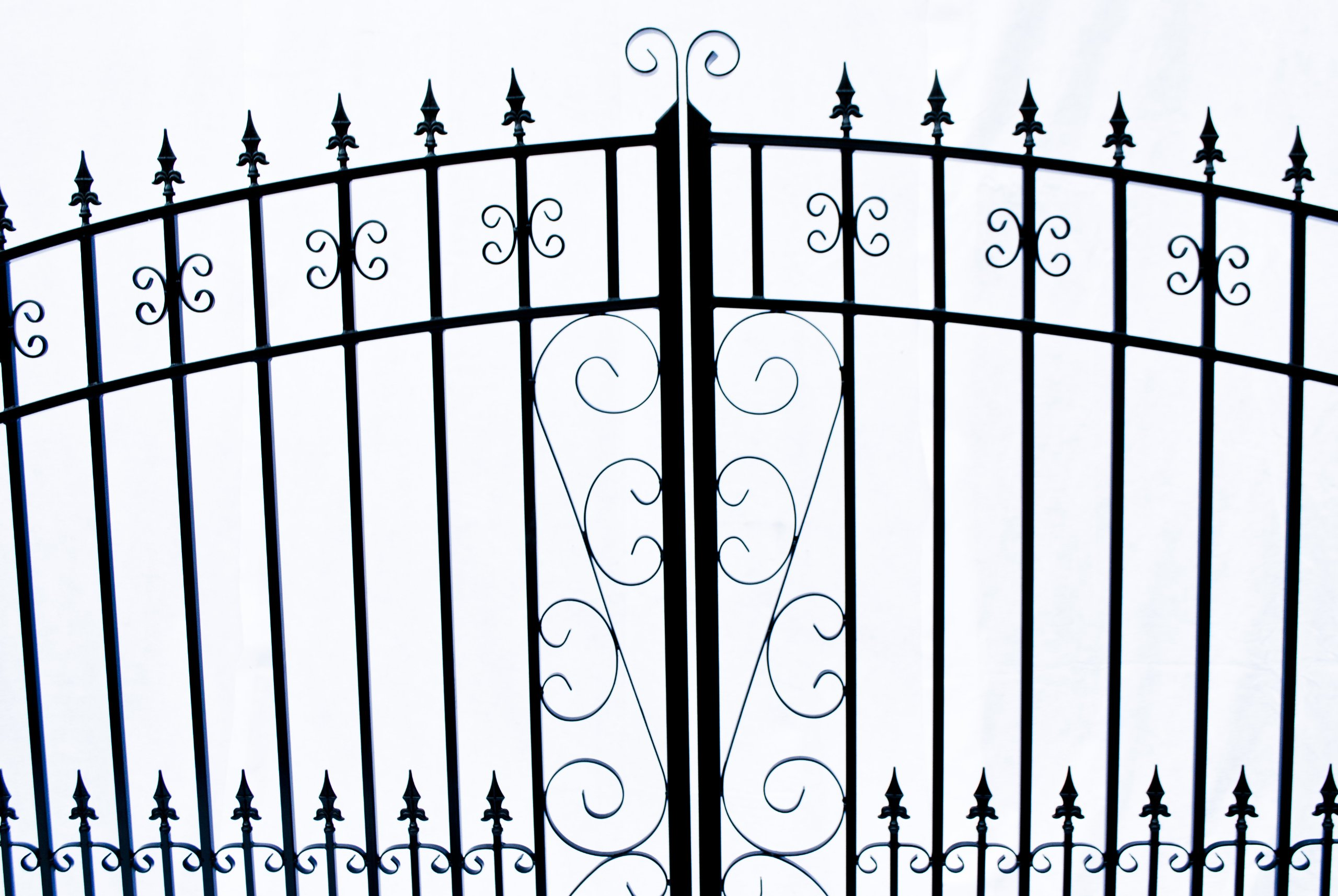 ALEKO Venice Style Iron Wrought Gate 14' Driveway Gates Ornamental Dual Swing Gates 14'