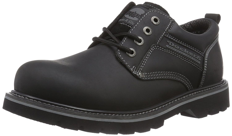 Dockers 23DA005 - Zapatos de cordones de cuero para hombre, color negro, talla 42: Amazon.es: Zapatos y complementos