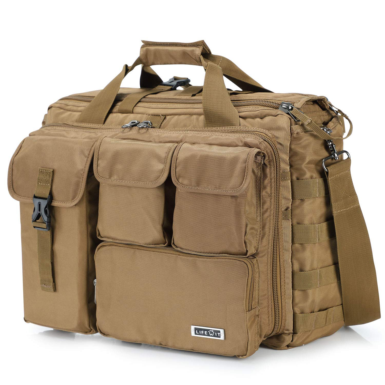 Lifewit 17'' Men's Military Laptop Messenger Bag Multifunction Tactical Briefcase Computer Shoulder Handbags by Lifewit