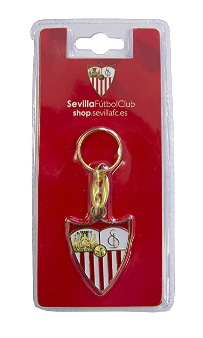 SFC SEVILLA FUTBOL CLUB Llasev Llavero, Blanco/Rojo, Talla Única