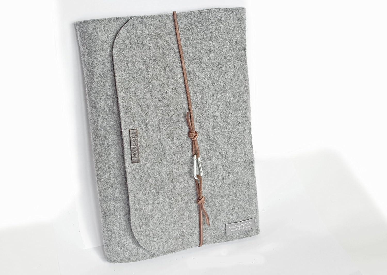 62c69168da4fd Laptop-   Netbook-Zubehör Elektronikzubehör personalisierte für MacBook 13 15  Zoll Filz Hülle Laptoptasche Namen Laptophülle 15 Zoll Leder Karabiner retro  ...