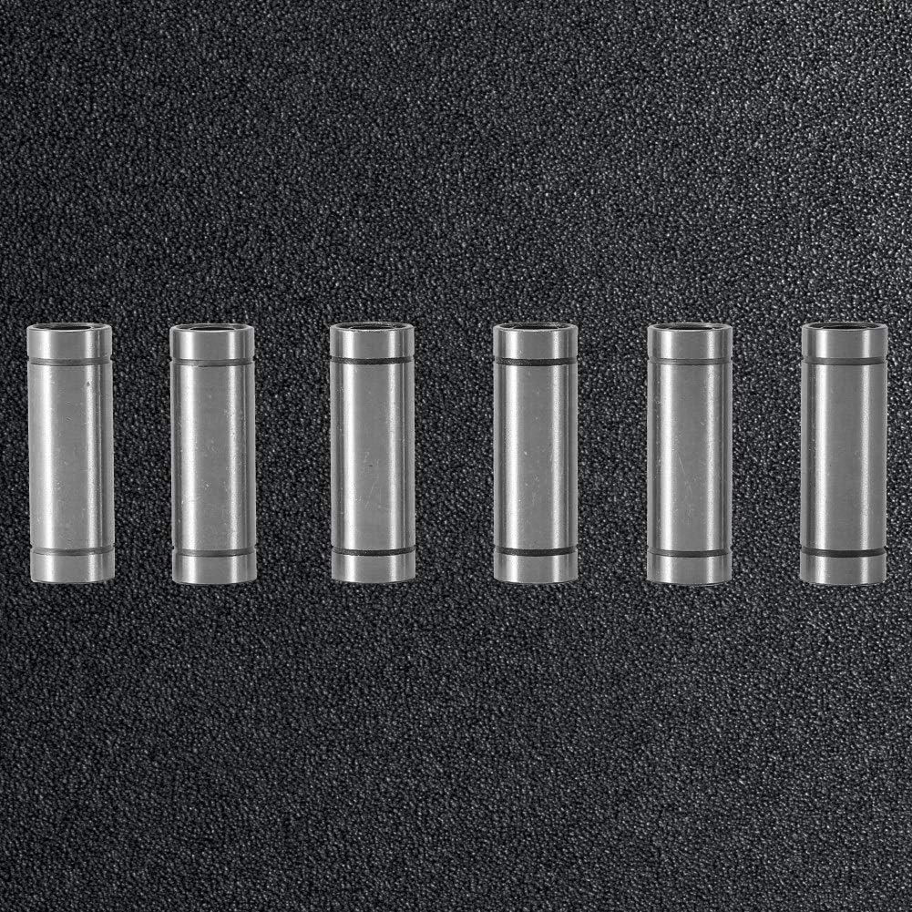 Delaman Long Linear Motion Ball Bearings for 8mm Rod 3D Printer CNC Parts LM8LUU 6pcs