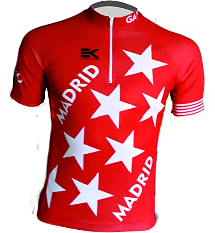 MAILLOT EKEKO MADRID VINTAGE, maillot corte clasico/retro con la bandera de la comunidad de madrid.: Amazon.es: Deportes y aire libre