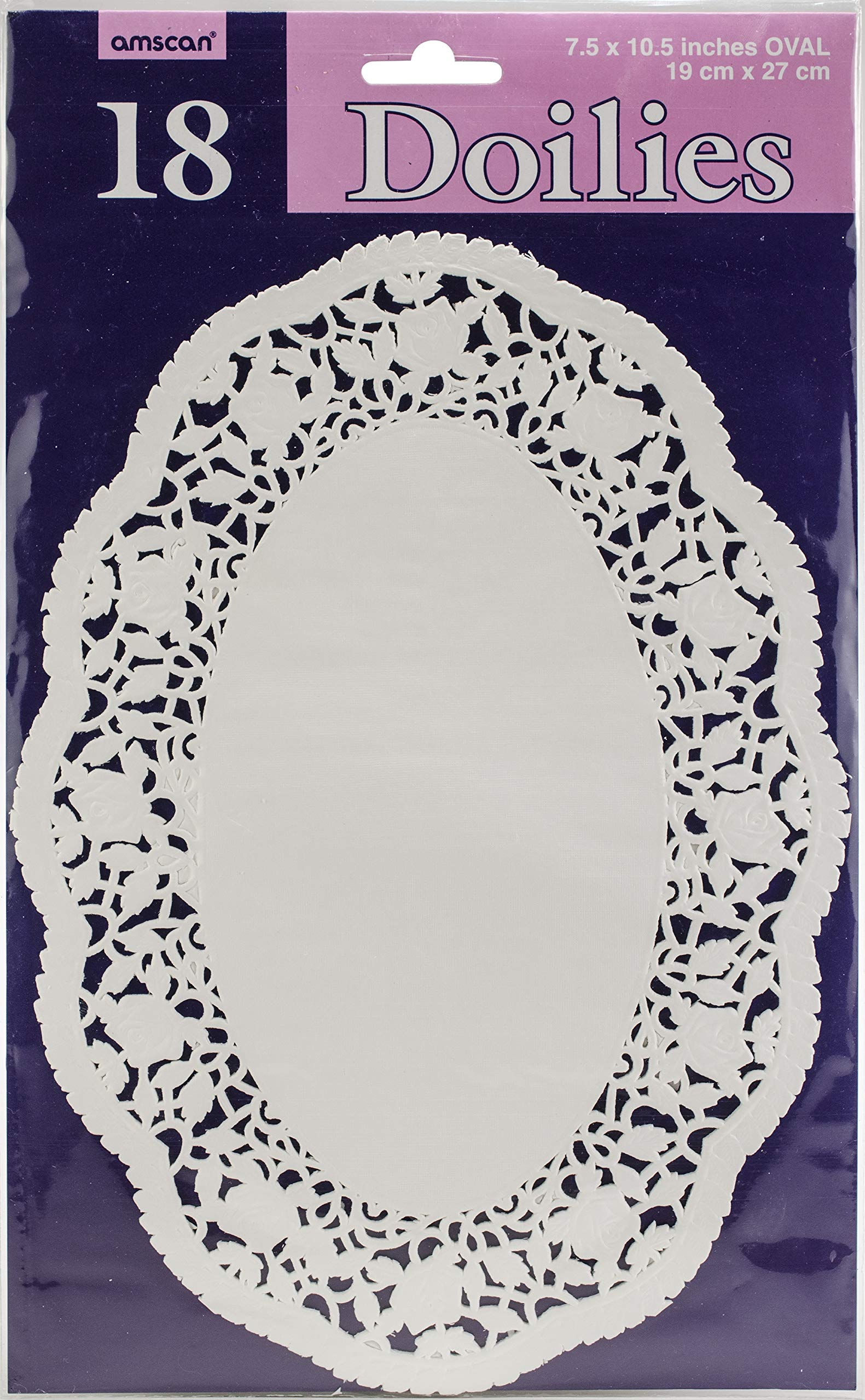 White Oval Doilies   Pack of 18  Party Supply