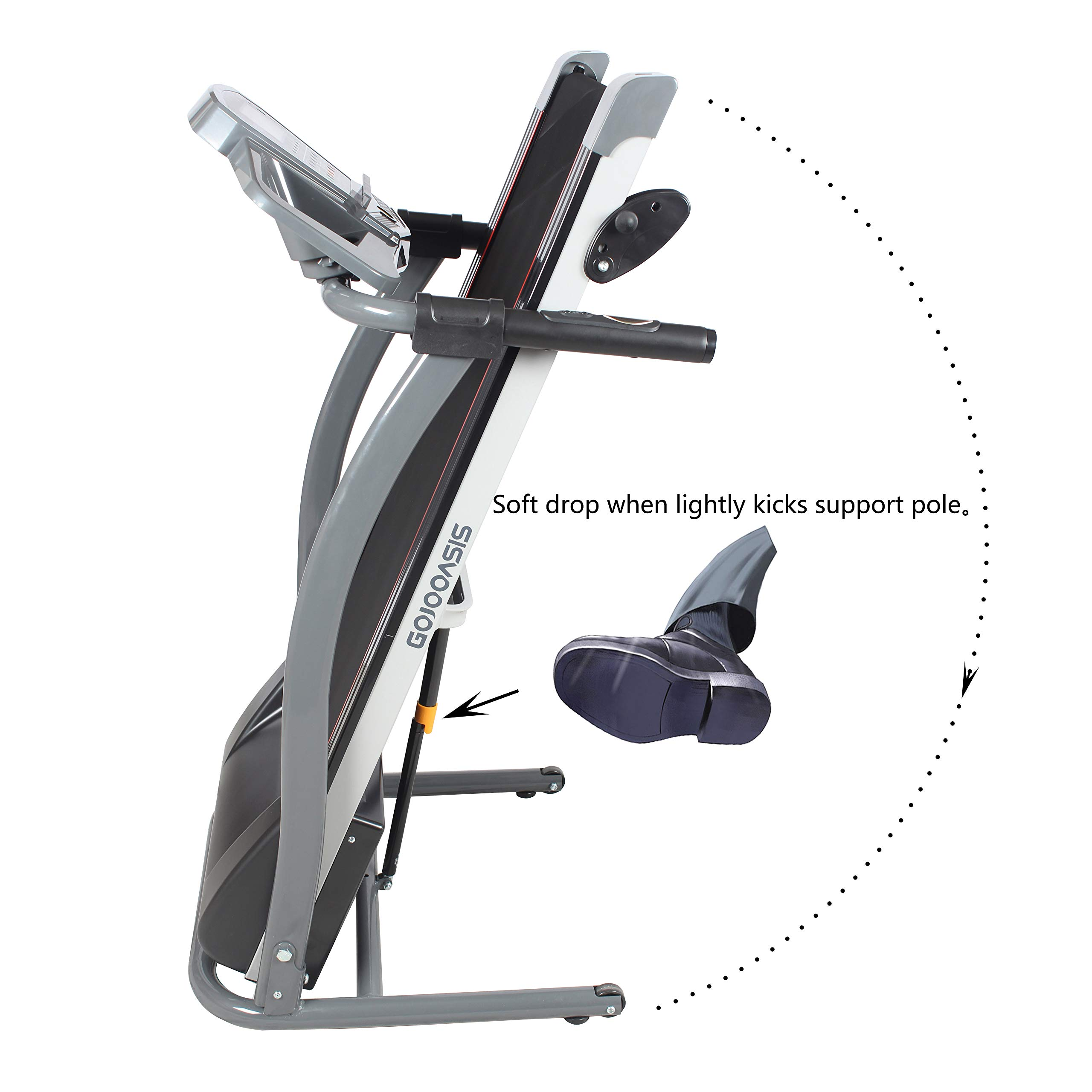 GOJOOASIS 2.0HP Treadmill Folding Motorized Running Exercise Machine w/Incline by GOJOOASIS (Image #6)