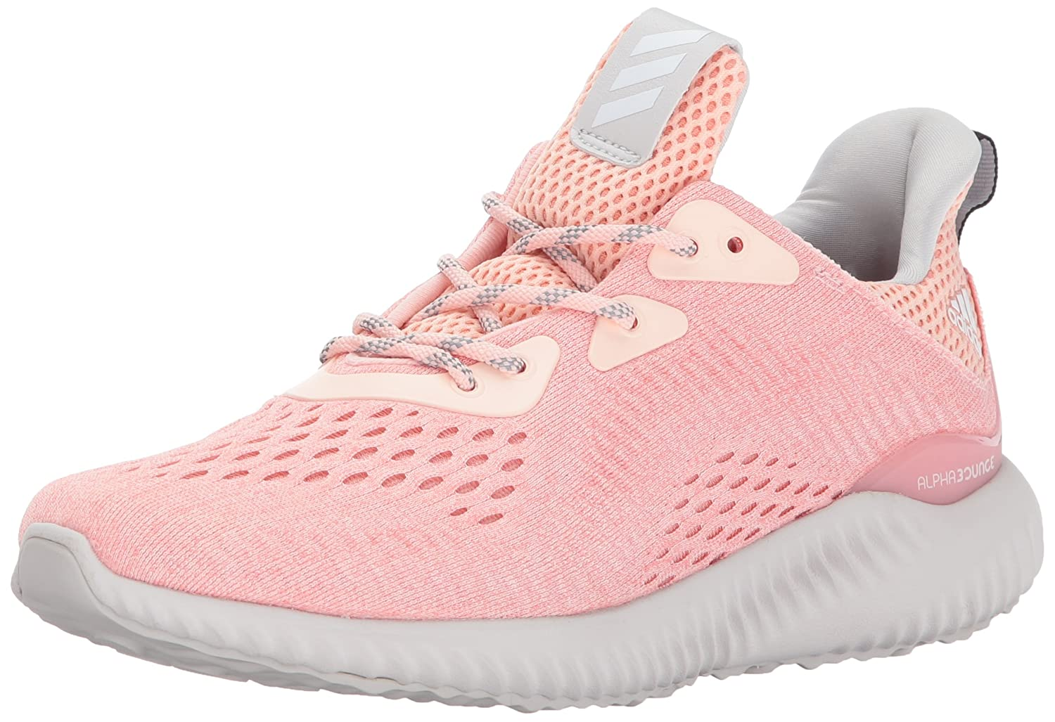 adidas Women's Alphabounce Em W Running Shoe B01MYR3GY0 5 B(M) US|Ice Pink/Trace Pink/Grey One