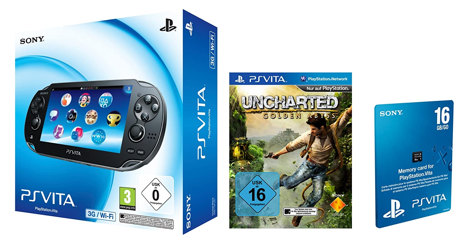 Sony PlayStation Vita 3G + Wi Fi, incluye Uncharted: Golden ...