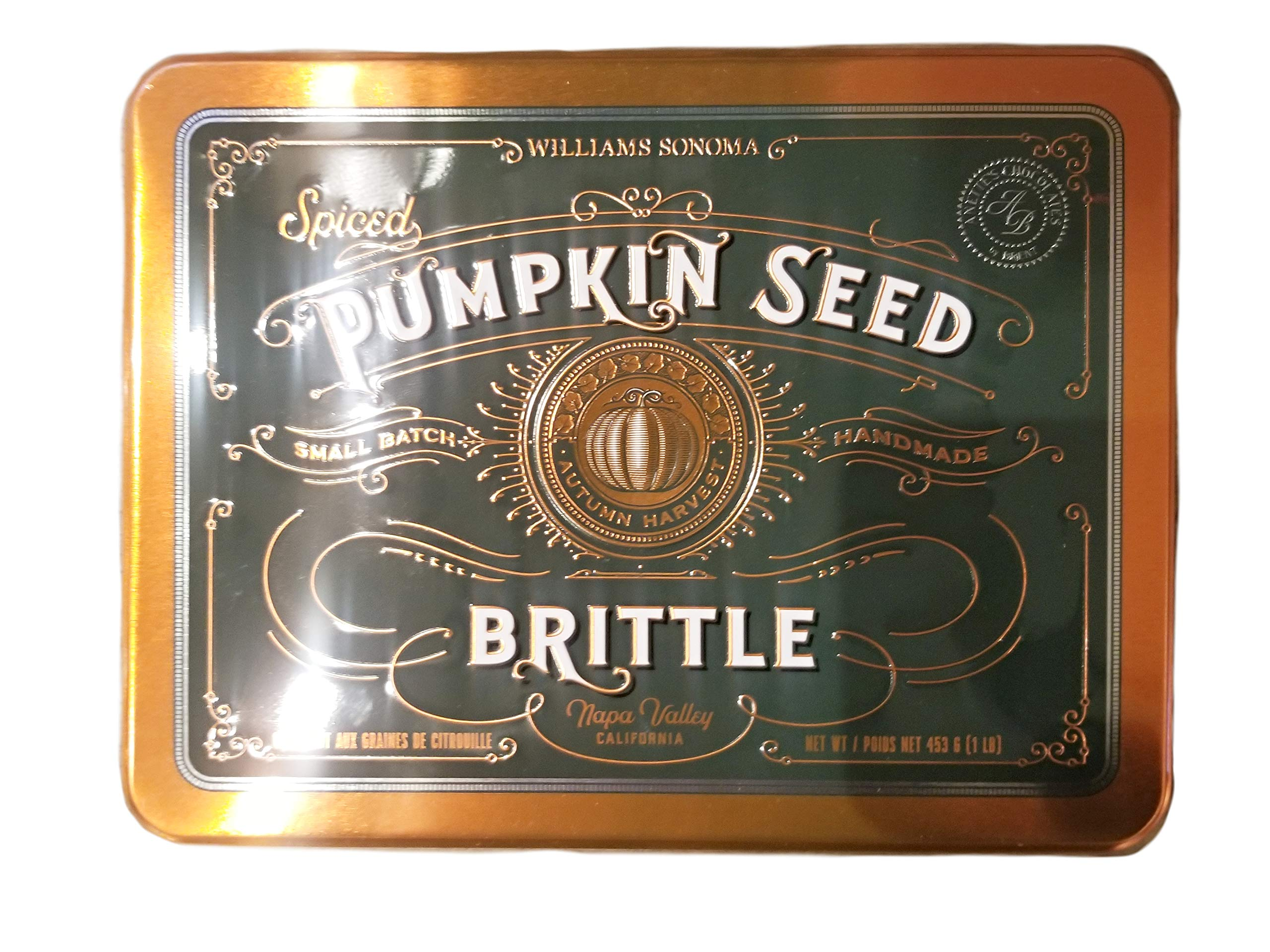 Williams Sonoma Spiced Pumpkin Seed Brittle - 1 Lb. Tin by FCV