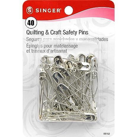 Amazon.com: Singer Large Quilting and Craft Safety Pins, 40-Count : safety pins for quilting - Adamdwight.com