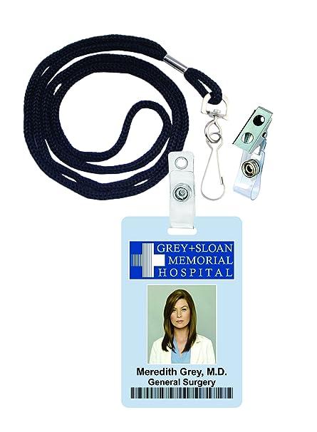 Meredith, Gris, anatomía de Grey novedad ID Badge Película Prop para ...
