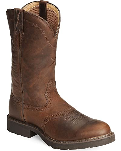 Amazon.com: MCW0004 Twisted X Men's Pull On Work Boots - Brown: Shoes