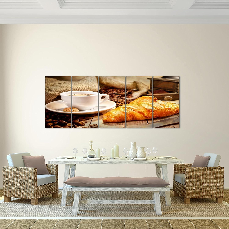 Bilder Küche Kaffee Wandbild 100 X 40 Cm Vlies   Leinwand Bild XXL Format Wandbilder  Wohnzimmer Wohnung ...