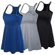 SUIEK 3PACK Racerback Nursing Tops Tank Cami Maternity Bra Breastfeeding Sleep Shirt (X-Large, Black+Charcoal+Atrovirens 3Pack)