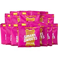 SmartSweets Low Sugar Gummy Bears Candy Fruity 1.8 oz bags (box of 12), Free of Sugar Alcohols and No Artificial Sweeteners Sweetened with Stevia, Natural Fruit Flavors