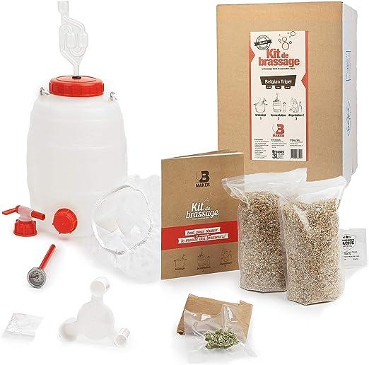 B Maker – Kit de cerveza belgian triple – Idea regalo para hombre y mujer – Kit para hacer cerveza en casa – reutilizable y fabricado en Francia – 3 litros: Amazon.es: Hogar