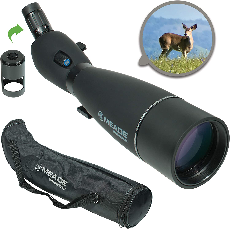 Meade Instruments 126002 Wilderness 20-60 x 100 mm, Color Negro