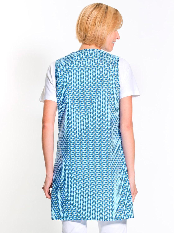 Couleur : Imprim/é Bleu sans Manches Femme CHARMANCE Taille : 48 Tablier 3//4