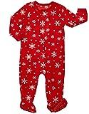Leveret Kids Baby Boys Girls Fleece Footed Pajamas