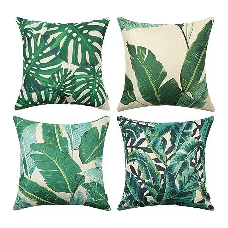 Amazon.com: Top Finel Funda de almohada cuadrada decorativa ...