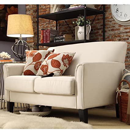 Awesome Amazon Com Modern Loveseat Many Variations Leather Or Linen Machost Co Dining Chair Design Ideas Machostcouk