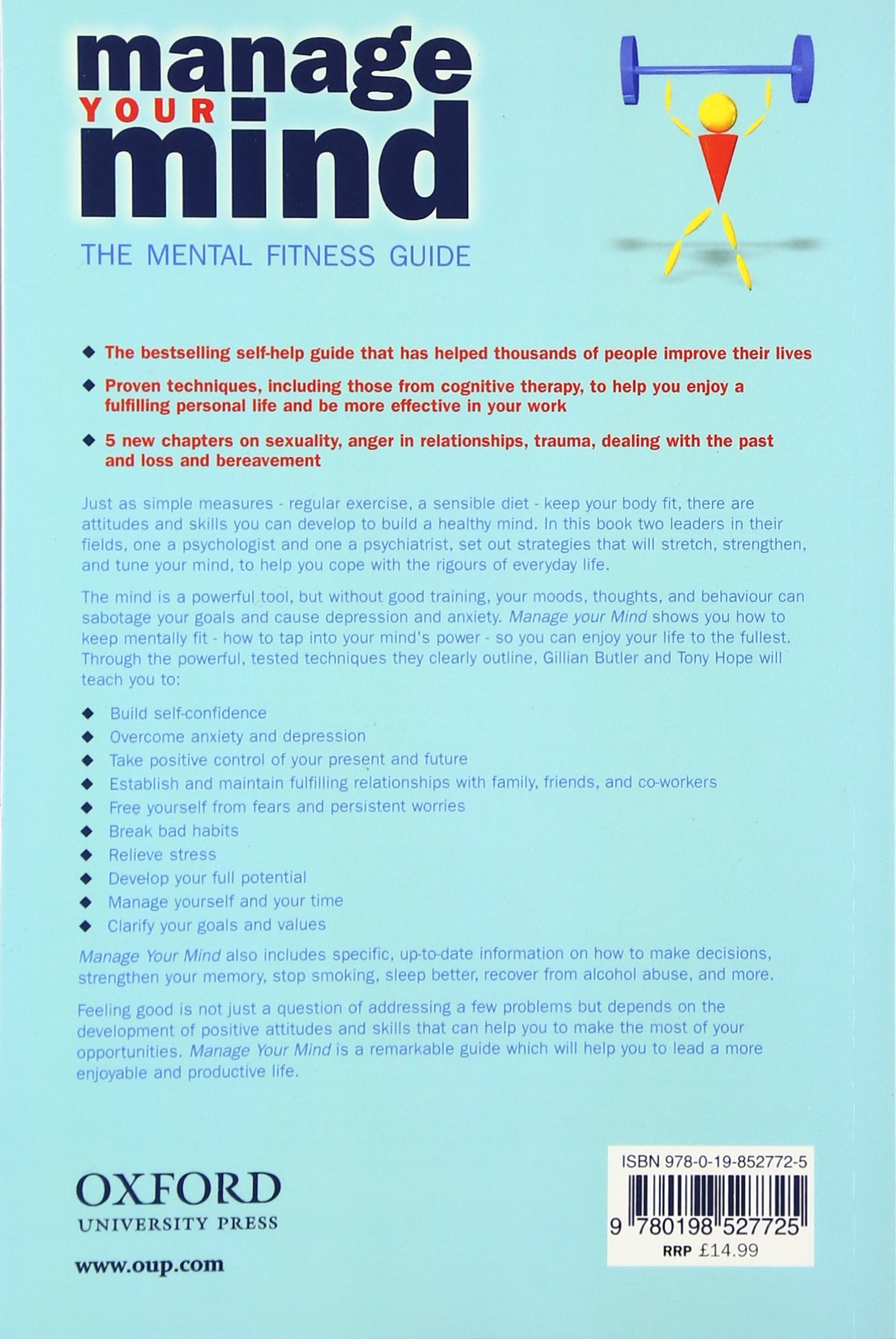 Manage Your Mind The Mental Fitness Guide Amazoncouk Gillian Butler Tony Hope 9780198527725 Books