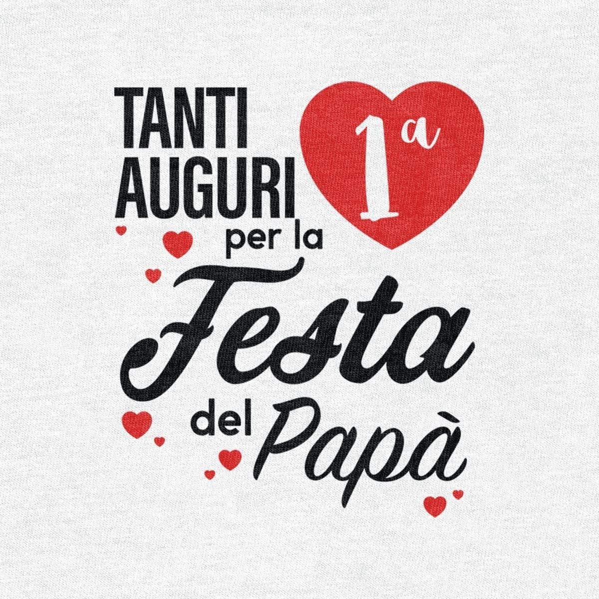 Tanti Auguri per la Prima Festa del pap/à Body Neonato Manica Corta