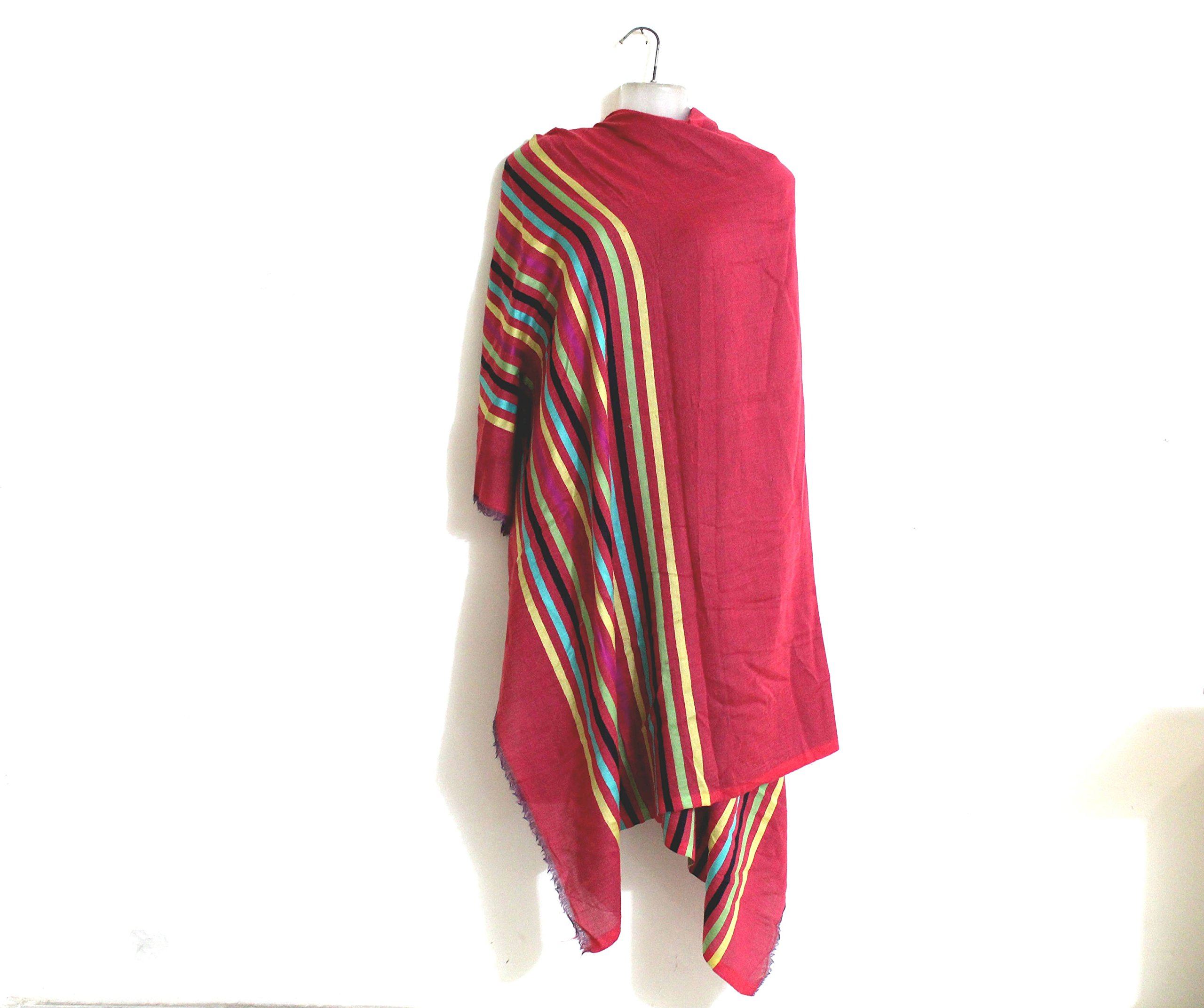 Red Pashmina scarves Colorful bridal wrap wedding shawl cashmere scarf bridesmaid gift -Size 76''x 27'' IDSC10 by iDukaancrafts (Image #3)