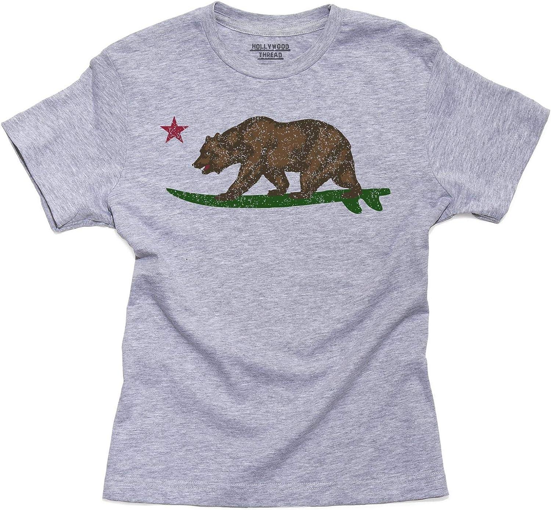 Bear Kid/'s T-shirt Crianças Meninos E Meninas Unissex Top California Surf Board Equitação