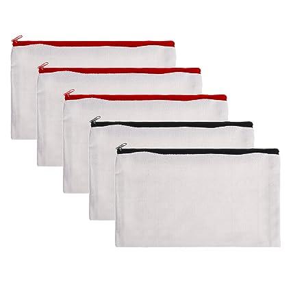 amazon com bcp 5 pieces multi purpose cotton canvas zipper invoice
