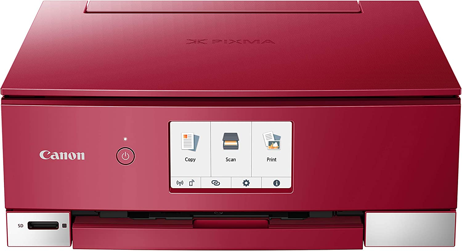 Canon PIXMA TS8320 Inkjet Wireless Color Printer All In One, Copier, Scanner, Red, Amazon Dash Replenishment Ready, Model:3775C042