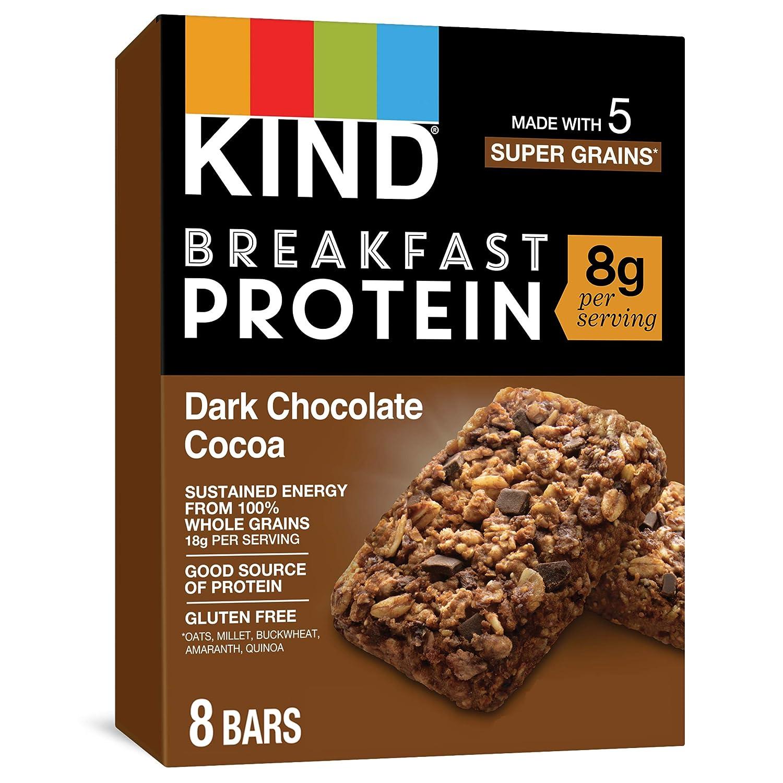 KIND Breakfast Protein Bars, Dark Chocolate, Cocoa, 32 Count